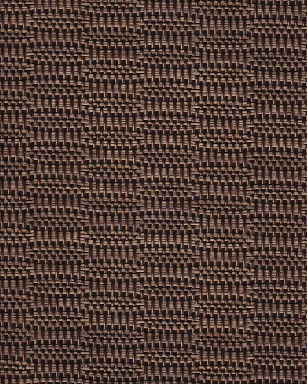 Dark black and brown woven fabric
