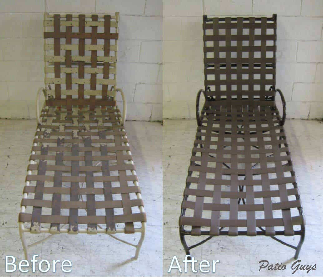 Before and After Brown Cantina Chaise Lounge