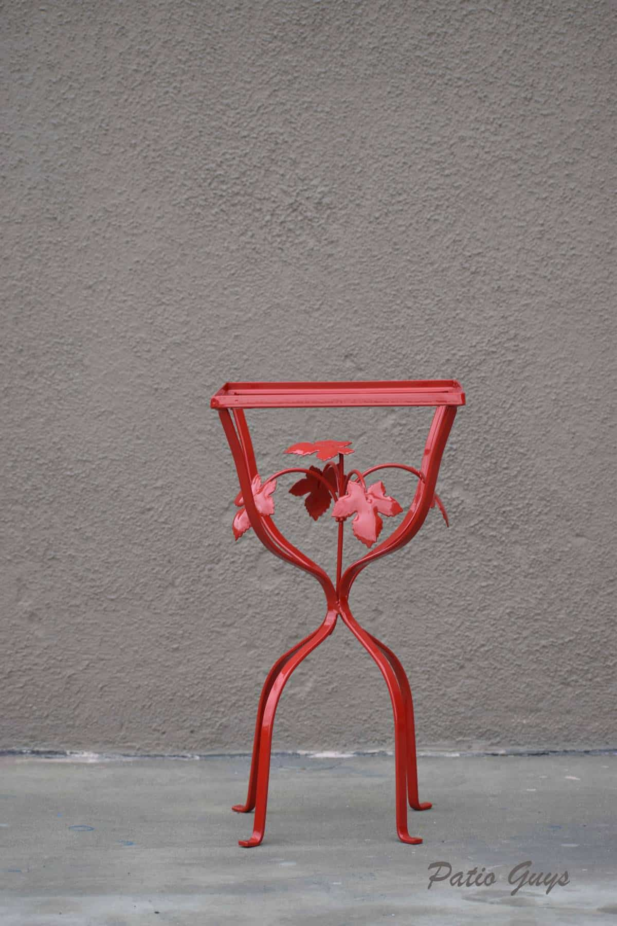 Red wrought iron decorative table frame