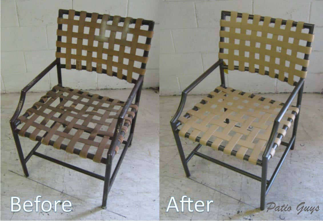 Cantina outdoor chair before and after