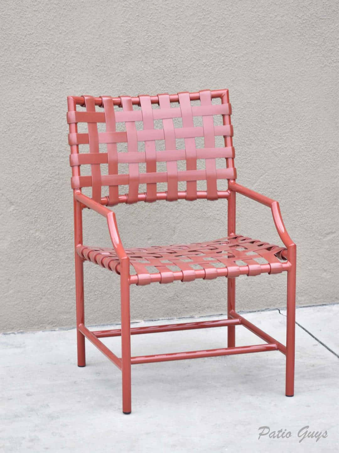 Terra Cotta strap cantina chair