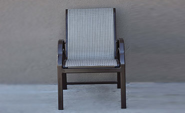Dark brown sling outdoor chair