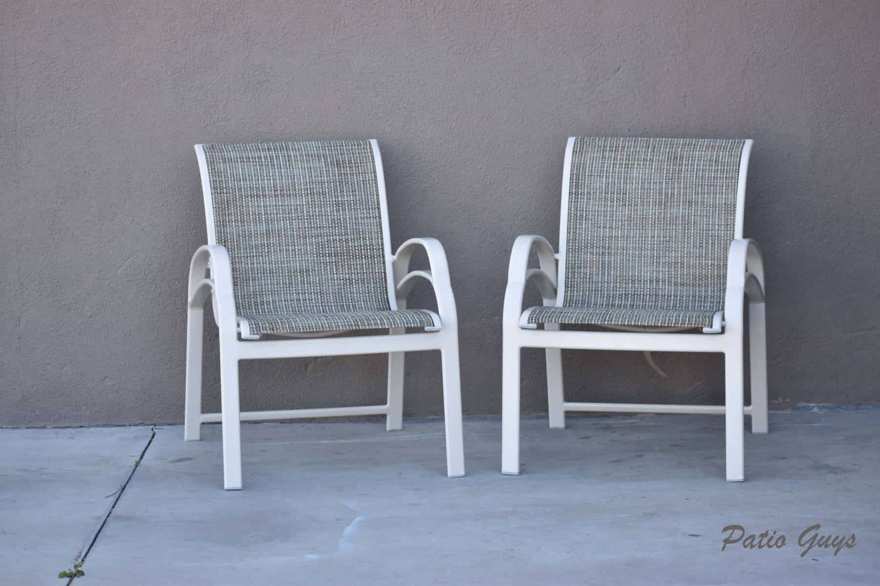 Two sling chairs