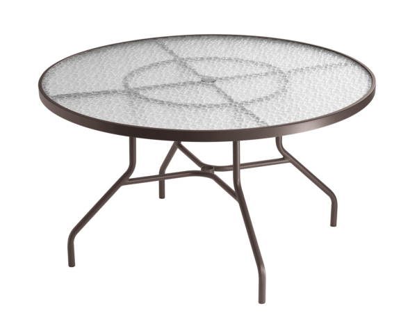 "Glass Acrylic 48"" round dining table"